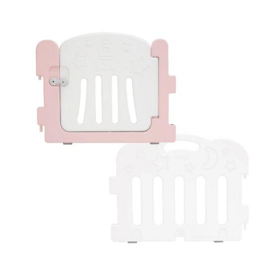 Caraz Baby Room Extension Kit (1 x Door + 1 x Panel) - Pink + White