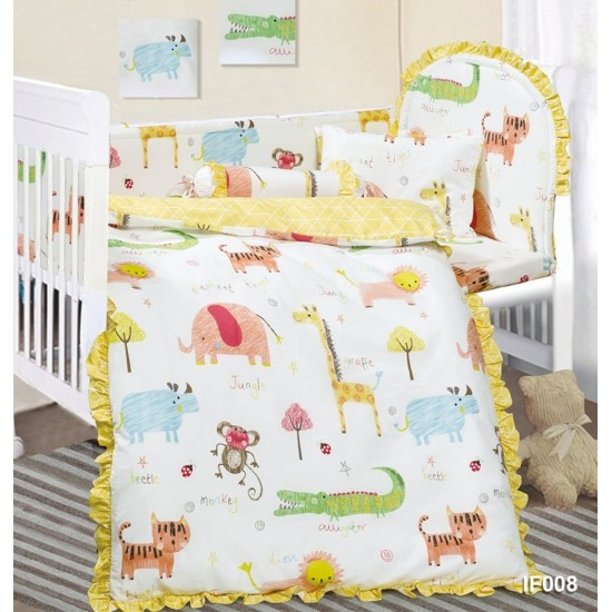 Cherry 12 pcs Baby Bed Set - IF008