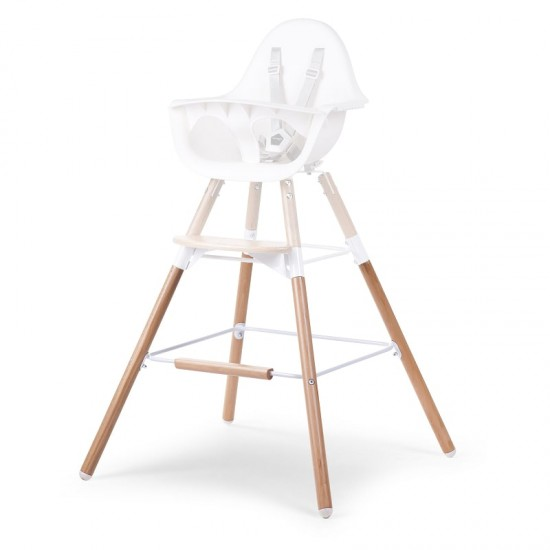 Childhome Evolu One.80 Extra set long legs and footrest - NATURAL WHITE