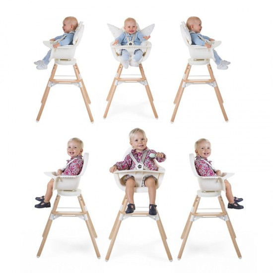 Childhome Evolu One.80 High Chair - Giraffe Seat Cushion VELVET OCHRE