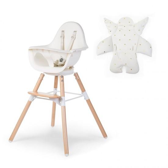Childhome Evolu One.80 High Chair - Angel Seat Cushion Gold Dot