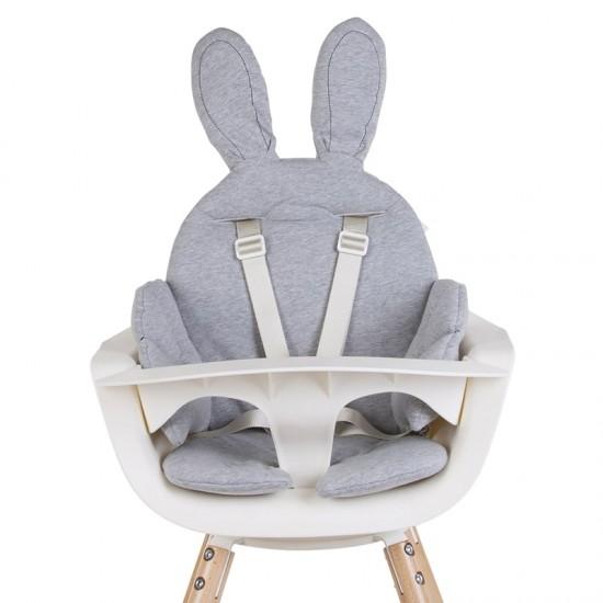 Childhome Evolu One.80 High Chair - Rabbit Seat Grey Cushion