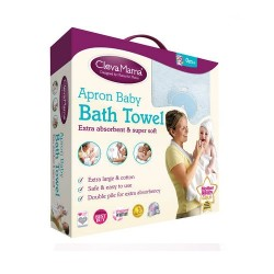 Clevamama Splash & Wrap Baby Bath Towel - Blue