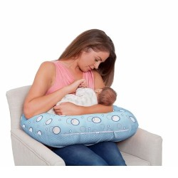Clevamama CLEVACUSHION 10 in 1 Nursing Pillow - Blue (7500)