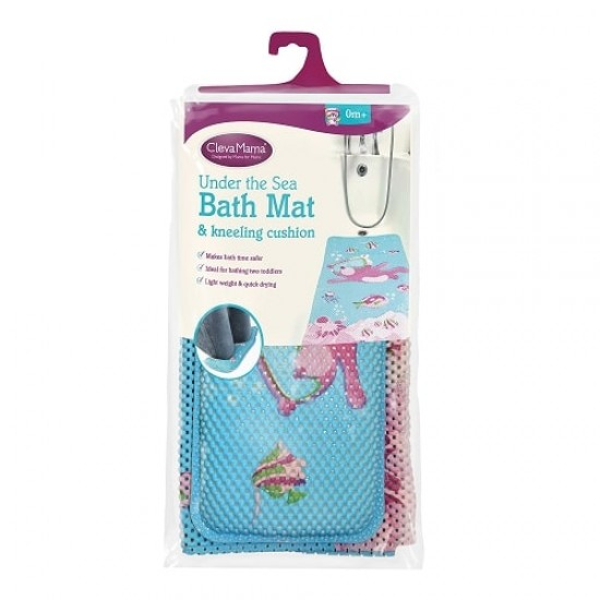 Clevamama Under The Sea Bath Mat & Kneeling Cushion (7410)