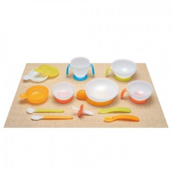 Combi Baby Label Tableware Step up Set