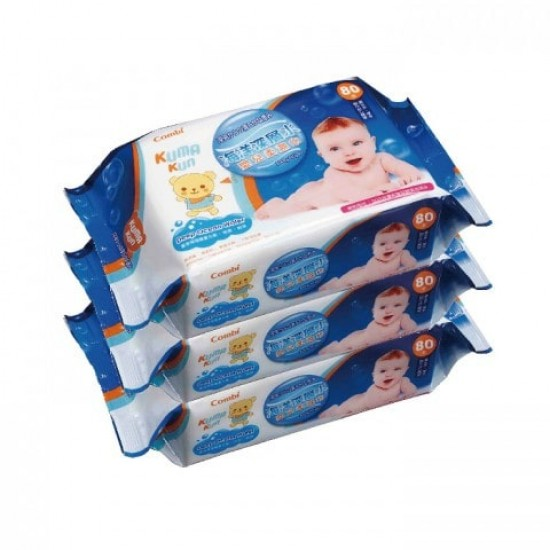 Combi Kuma Kun Baby Wipes - 80 pcs x 3