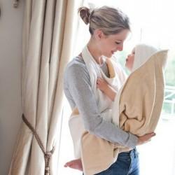 Cuddledry Baby Apron Bath Towel - Oatmeal