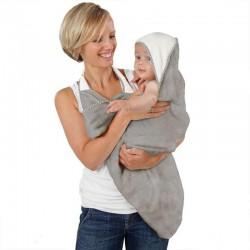 Cuddledry Original Baby Bath Towel - Grey Stars