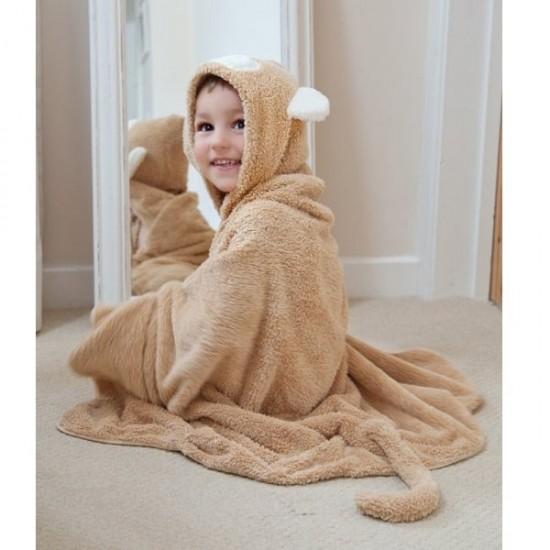 Cuddledry Toddler Towel - Snuggle Monkey