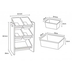 Baby Star x Delsun 5 Toy Storage Organizer - Rainbow