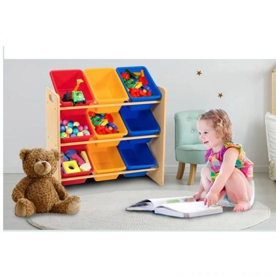 Baby Star x Delsun 9 Toy Storage Organizer - Rainbow