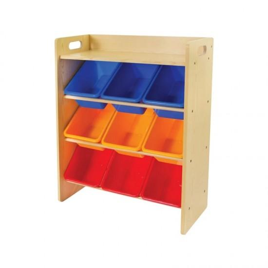 Baby Star x Delsun 9 Toy Storage Organizer with Shelf - Rainbow