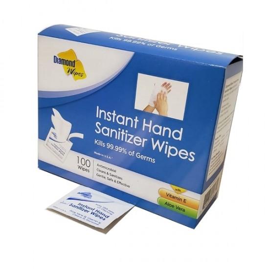 Diamond Wipes Instant Hand Sanitizer Wipes - 100 wipes
