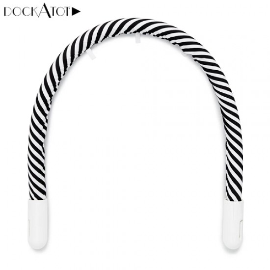 Toy Arch for DockATot Deluxe+ (0-8 MTH) - White / Black Stripe