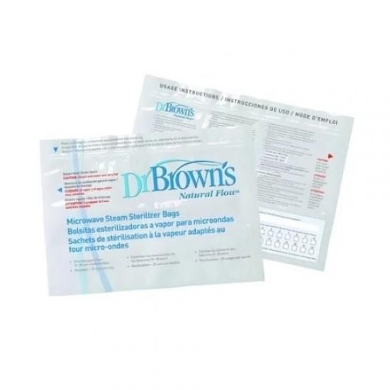Dr Brown's Microwave Steam Sterilizer Bags - 5 pcs