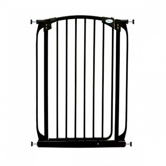 Dreambaby Chelsea Xtra Tall Auto Close Gate - 100 cm Height -71 - 82 cm - Black