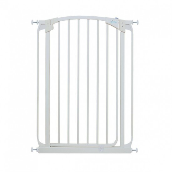 Dreambaby Chelsea Xtra Tall Auto Close Gate - 100 cm Height -71 - 82 cm - White