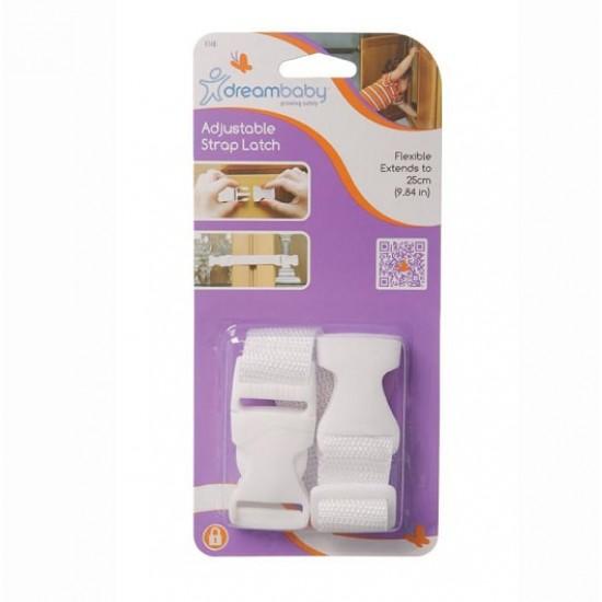 Dreambaby Adjustable Strap Latch -  2 pcs