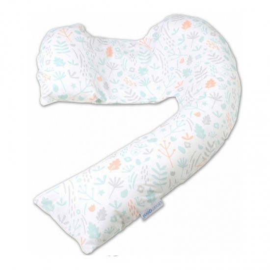 dreamgenii pregancy support & feeding pillow - Nature Grey Coral