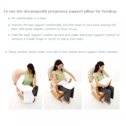 dreamgenii pregancy support & feeding pillow - Nature Grey Green