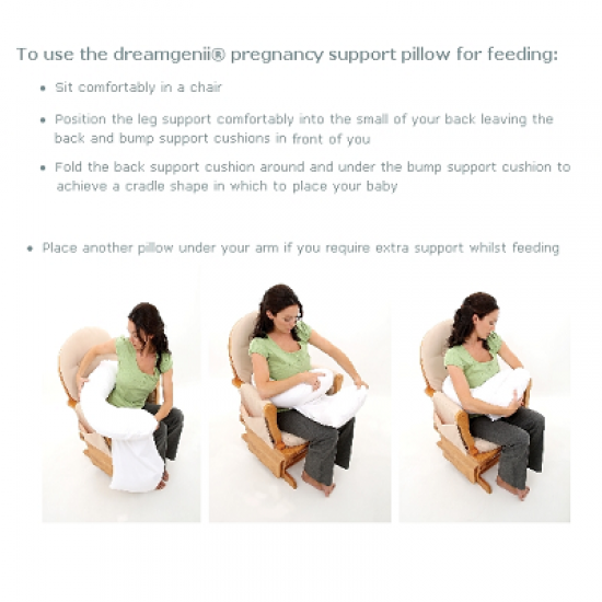 dreamgenii pregancy support & feeding pillow - Geo Grey Aqua