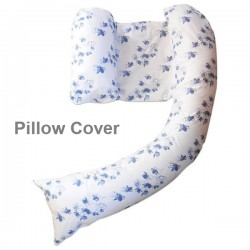 dreamgenii pregancy support & feeding pillow Cover -  Blue Oriental Blossom