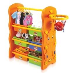 Edu.play 3 in 1 storage rack, hanger, basketball stand