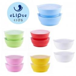eLIpse Kids 12oz Non-Spill Bowl with Lid - 2 pcs