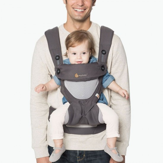Ergobaby 360 All Positions Baby Carrier Cool Air Mesh - Carbon Grey
