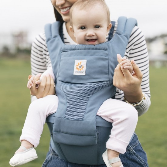 Ergobaby Hipseat 6 positions baby carrier - Cool Air Mesh - Oxford Blue