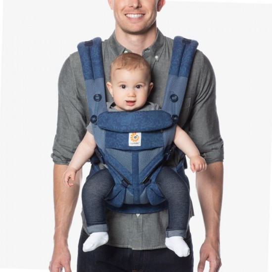 Ergobaby Omni 360 Cool Air Mesh Baby Carrier - Blue Blooms