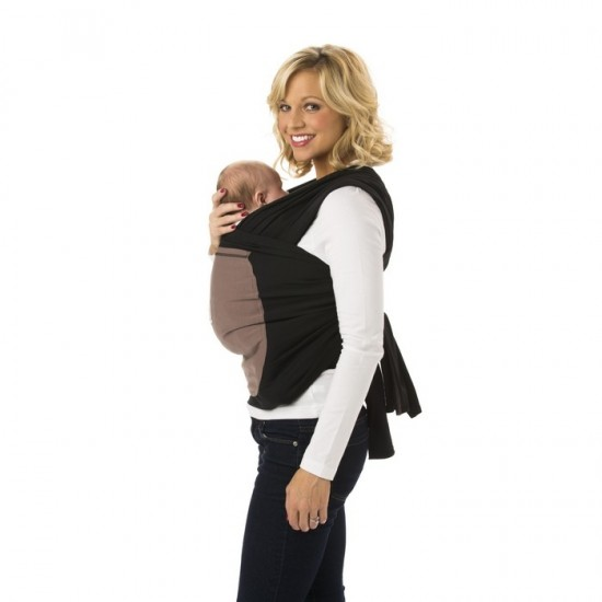 Ergobaby Carrier Wrap - Pepper (Black Wrap with Taupe Pocket )