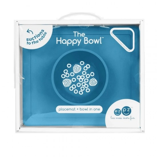 ezpz Happy Bowl & Placemat - Blue