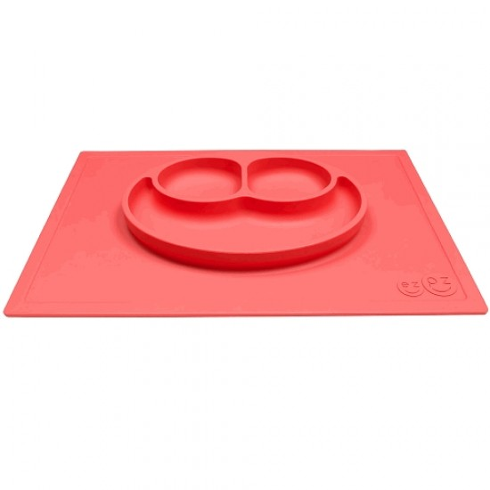 ezpz HAPPY MAT Plate & Placemat - Coral
