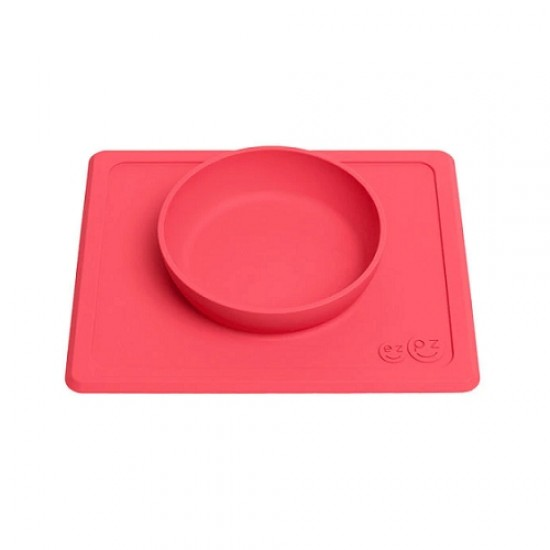 ezpz Mini Bowl & Placemat - Coral