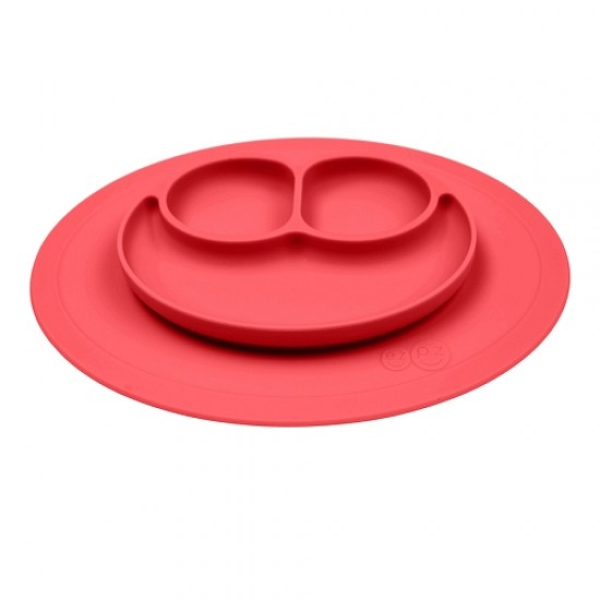 ezpz Mini MAT Plate & Placemat - Coral