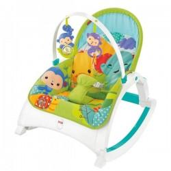 Fisher Price Rainforest Friends Newborn-to-Toddler Portable Rocker  (DMR87)