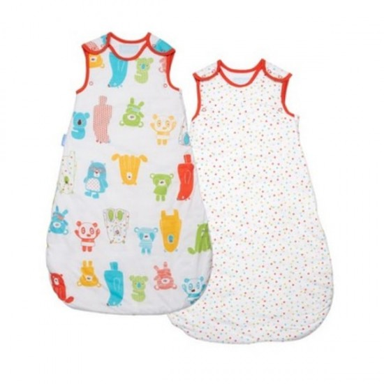 Grobag Spotty Bear Wash & Wear Twin pack - 2.5 Tog - 6-18m