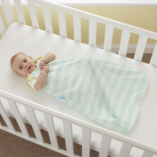 The Gro Insect Shield Sleep bag - Mint Stripe - 0.5 Tog,  18-36m