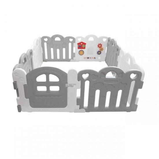 Haenim Toy Petit Baby Room 147 x 147 cm- Grey + White