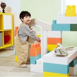 Haenim Toy My 1st House Macaron Big Blocks - 74 Pieces