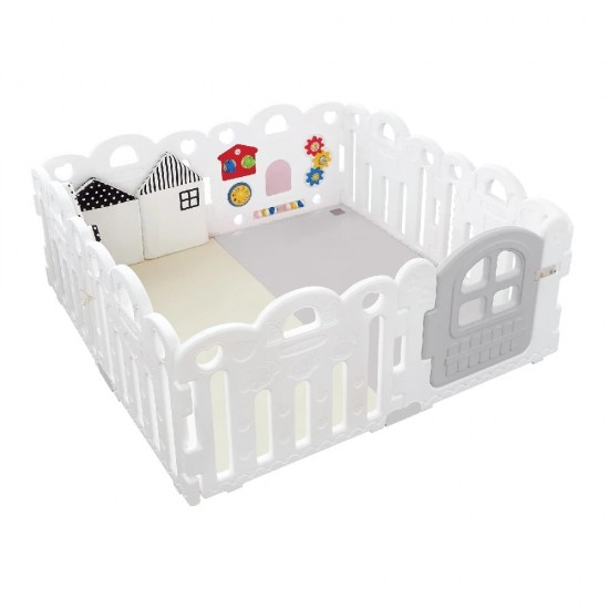 Haenim Toy Petit Baby Room and Playmat Set - Pure White