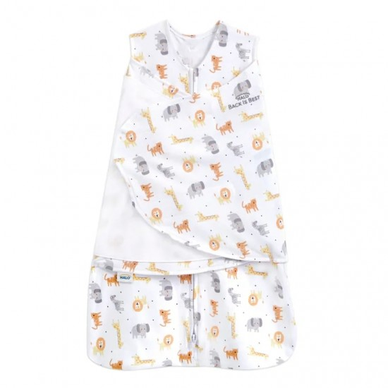 HALO SleepSack Swaddle, Cotton - Jungle
