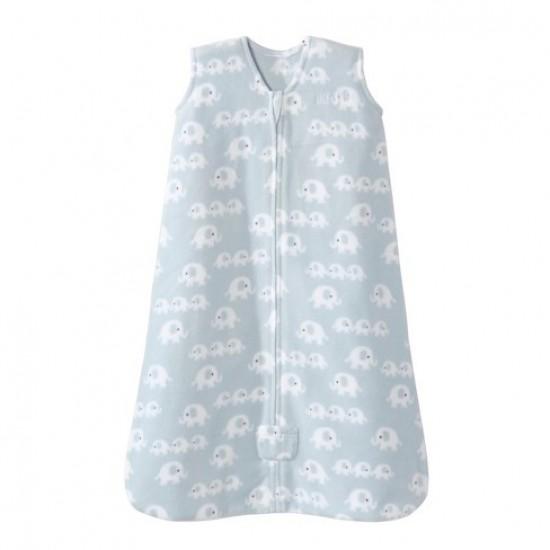 HALO SleepSack, Micro-Fleece - 3 elephants blue print (Size M)
