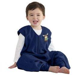 HALO SleepSack Big Kids, Micro-fleece - Blue Moose ( 2-3T)