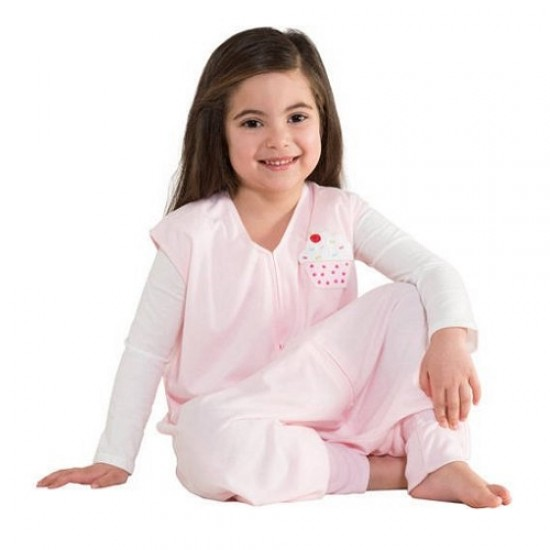 HALO SleepSack Big Kids, Lightweight Knit - Pink Cake ( 4-5T)