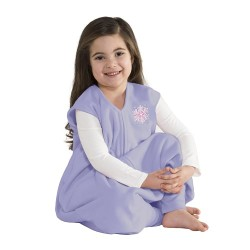 HALO SleepSack Big Kids, Micro-fleece - Lilac Snowflake ( 2-3T)