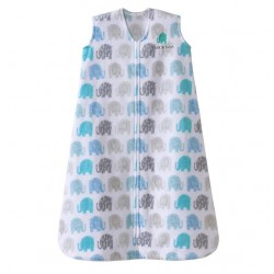 HALO SleepSack, Micro-Fleece - elephants texture print (Size L)