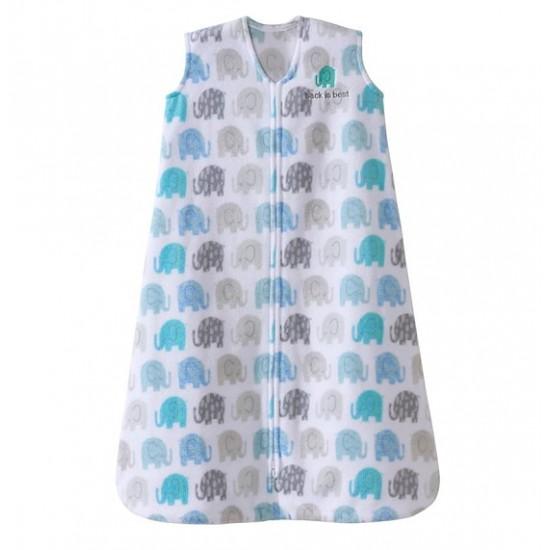 HALO SleepSack, Micro-Fleece - elephants texture print (Size M)
